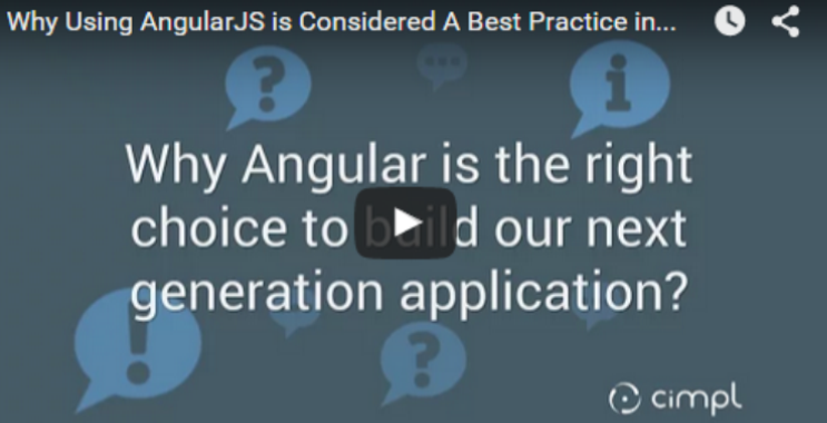 Why is Angular the right choice to build our next generation application?