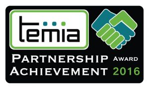 TEMIA 2016 Partnership Achievement Award